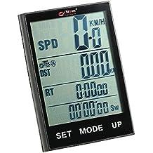 Docooler Retroiluminación Resistente al Agua Bicicleta Inalámbrica Velocímetro Odómetro Temperatura Multifunción Bici Equipo