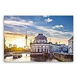 !!! SENSATIONSPREIS !!! ge Bildet® hochwertiges Leinwandbild - guten Morgen Berlin - 30 x 20 cm einteilig 2211 E