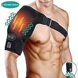 Réglable Epaulière Chauffante et Massage pour Femmes et Hommes, Coussin Chauffant d'épaule de Vibration Massage et Attelle Épaule à Bandage pour Articulation AC, Tendinite, Épaule Dislocation