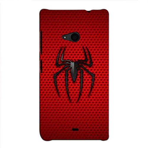 Bluethroat Animated Spider Symbol of a Superhero Back Case Cover for Microsoft Lumia 535 :: Microsoft Lumia 535 Dual SIM :: Nokia Lumia 535