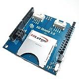 HiLetgo 2 in one SD Card and TF Card Arduino Shield for Arduino UNO R3 Arduino Mega 2560