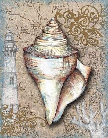 tesori nautiche i by Knold disponibile, donna-Stampa artistica su tela e carta, Carta, SMALL (11 x 14 Inches
