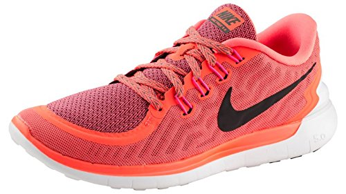 Nike Damen Laufschuhe Sneaker Nike Free 5.0 724383-801, Arancione - Orange (hot lava/black/tumbled grey), 38 (Laufschuhe Damen Road)