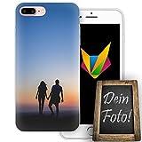 dessana Jahrestag Handyhülle Personalisiertes Geschenk dünne Silikon TPU Case Eigenes Foto Motiv für Apple iPhone 8 Plus Ohne Text