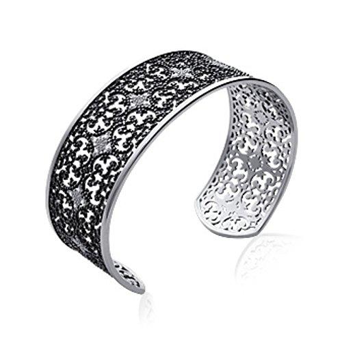 Bracelet Femme Jonc Argent 925 Rhodié OZ