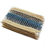 Aussel 30 Wert 600 Stück 1 Ohm-1M 0hm 1 / 4W Metallschichtwiderstand Sortiment Kit (600PCS)