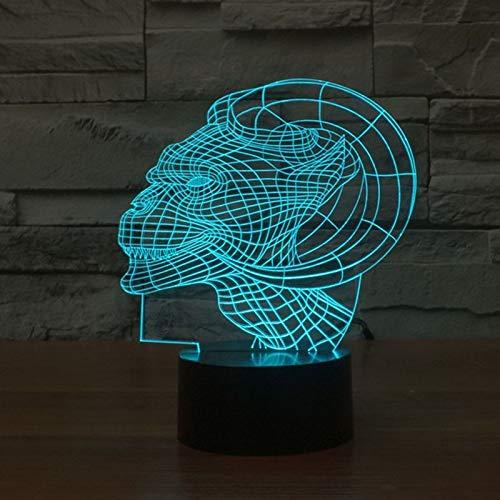 Neuheit 3d nachtlicht klaue led nachtlicht innenbeleuchtung usb tischlampe 7 farbwechsel nacht nachtlicht für kind geschenk han-9816 -