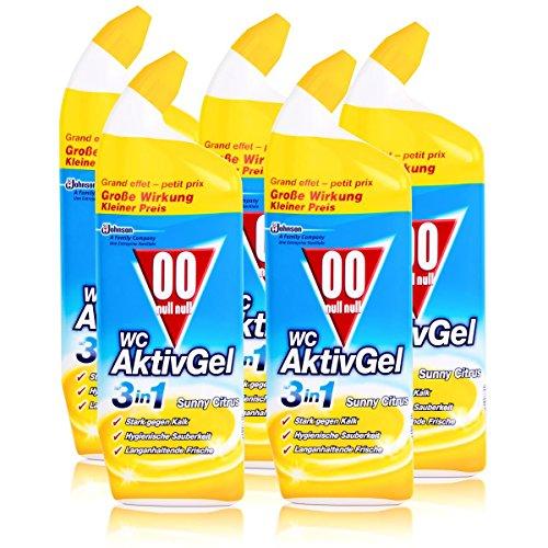 Citrus-gel-reiniger (00 null null WC Aktiv Gel 3in1 Sunny Citrus 750 ml - Stark gegen Kalk (5er Pack))