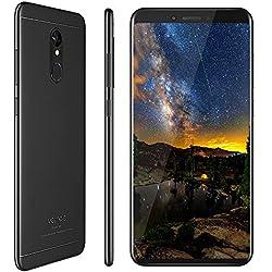 Vernee M6 Smartphone 4G de Pantalla Grande 5.7 Pulgadas, Cámara Dual 16MP+13MP, (4GB RAM 64GB Memoria Interna), Octa-Core 1.5GHz, Móviles Libres Buenos, Dual SIM - Negro