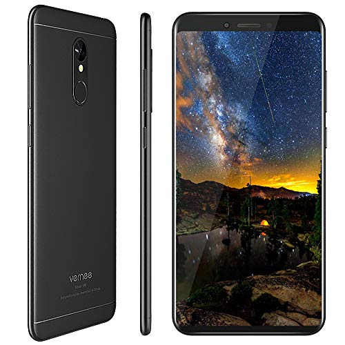 Smartphone Ohne Vertrag, Vernee M6 Dual SIM Handy, 4GB RAM 64GB ROM, 16MP Haupt/13MP Frontkameras, 3300mAh Batterie, 5.7 Zoll 18:9 HD-Display, Android 7.0, MTK6750C Octa-Core Prozessor (Schwarz) Dual-sim-handys