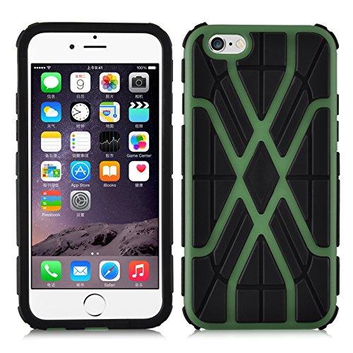 Coque iPhone 6 Plus 6s Plus Coque incassable iPhone 6 Plus | JAMMYLIZARD | Coque anti chocs [ ALIEN ] Coque incassable pour iPhone 6 Plus 6s Plus Coque heavy duty case, Turquoise SPIDER - VERT