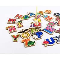 Naisidier Refrigerator Stickers Magnetic 26 Letters Animals for Educational Fun Refrigerator Alphabet For Toddlers Magnets Fridge ABC Educating Kids Magnetic Stickers(with Magnetic) Christmas Toy Gift