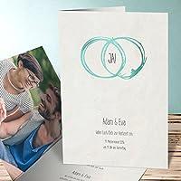 Einladungskarten Diamantene Hochzeit, Die Ewigkeit 120 Karten, Vertikale  Klappkarte 105x148 Inkl. Weißer Umschläge