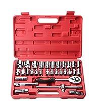 Juego de reparación de automóviles Juego de reparación de auto profesional de la herramienta Juego de reparación de automóviles de 32 piezas. (Color : Red)