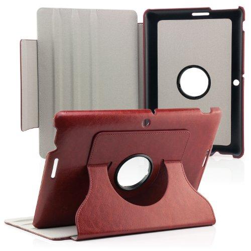 Saxonia ASUS MeMO Pad 10 Hülle Case Tablet Tasche Schutzhülle (360°) Cover Premium Qualität Braun
