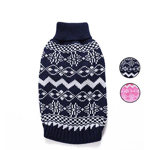 HongYH 2. Welle aus Hund Pullover, Urlaub, Strickwaren Oberbekleidung Hund Kleider mit fair isle für kleine Hunde und Katzen
