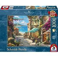Schmidt-Spiele-Puzzle-59624-Thomas-Kinkade-Caf-an-der-italienischen-Riviera-1000-Teile-Puzzle-bunt Schmidt Spiele 59624 Thomas Kinkade, Café an der italienischen Riviera, 1000 Teile Puzzle, Bunt -