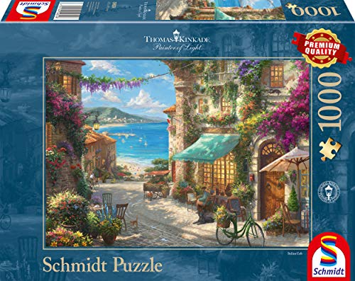 Schmidt Spiele Thomas Kinkade Dörfchen am Leuchtturm 3000 Teile Steckpuzzle