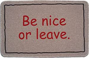 Be nice or leave paillasson