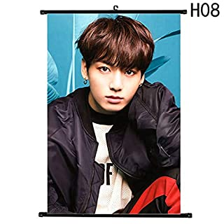 LETAMG Wall Sticker Bts Face Yourself Painting Scrolls Wall Decor Bts Poster Bts Decals Wallpaper Wall Stickers