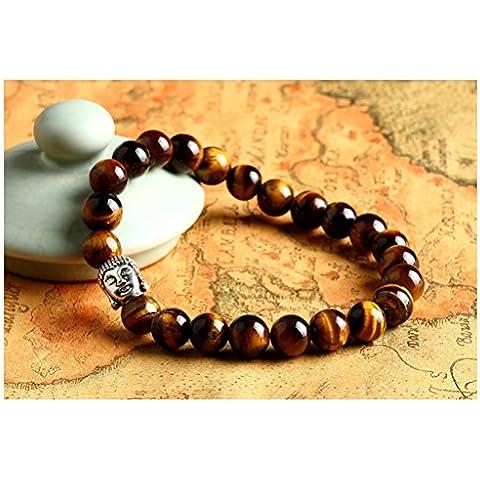 Distinct® Pietra naturale Buddha Bead Bracciali Bangles - Buddha Bead