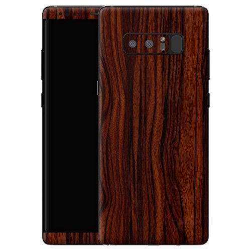 Gadgets WRAP -CO- Full Body Wooden Ebony Front and Back Skin for Samsung Galaxy Note 8