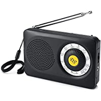 DreamSky AM FM Portable Radio with Loudspeaker and Headphone Socket