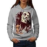 Légendaire Peindre Emploi Bob Marley Femme M Sweat à capuche | Wellcoda