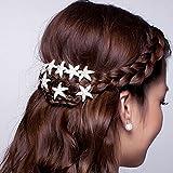 Musuntas 6er Set wunderschöne weiß Haarnadeln Haarspiralen Curlies süße Stern