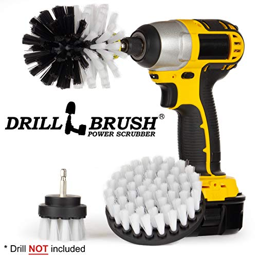 Drillbrush 3 Piece Drill Brush Cleaning Tool Attachment Kit for Scrubbing/Cleaning Tile, Grout, Shower, Bathtub, and All Other General Purpose Scrubbing (Automotive Soft-White) - Für Tool-kit Boot