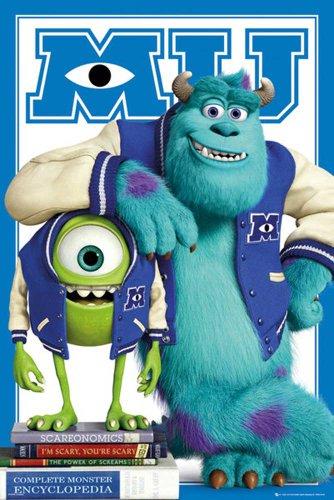 empireposter - Monsters University - Mike Sulley college jacket - Größe (cm), ca. 61x91,5 - Poster, NEU - zusätzlich erhalten Sie ein Überraschungs-Poster der Größe 61x91,5 cm, Neu