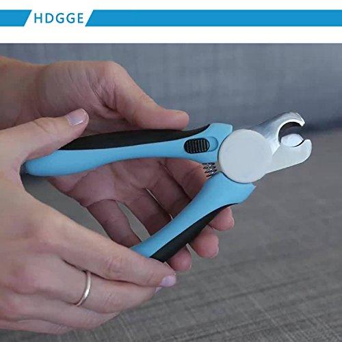 Nagel-Klipper-beste Berufshunde-Nagelscherer mit FREIER Nagel-Akte. Haustier-Greifer-Trimmer mit einzigartiger angehobener Spitze, super scharfe Klingen und bequemer Gummi-Beleg-freie Griffe. Geeignet für kleine, mittlere und große Hunde. (DOG-600 Blue) - 3