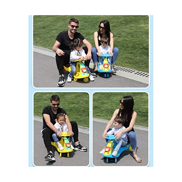 Twist car Swing car Children Yo Car Baby Swing Car Universal Wheel 1-3-6 Year Old Scooter FANJIANI (color : Yellow, Size : Mute wheel) Twist car ▶Tip: The delivery time of the product is 8-15 days, If you have any questions, please feel free to contact us ▶Environmental PP material, non-toxic, no odor, anti-drop, shockproof, baby play more assured ▶ Let the baby stimulate the left and right brains by grasping the grasp, promote the development of the cerebellum, support the body's lower body strength, maintain the stability of the body's center of gravity, and exercise the baby's balance ability. 4