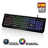 KLIM Domination - SPAIN - Mechanische RGB - QWERTY - Tastatur - Blaue Tasten - Schneller, präziser, angenehmer Tastenanschlag - VOLLSTÄNDIGE FREIHEIT BEI DER FARBAUSWAHL PC PS4