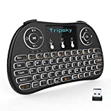 Tripsky T9 Mini clavier sans fil rétroéclairé, à main levée avec Touchpad souris à distance pour TV BOX pour Android, Windows PC, HTPC, IPTV, Raspberry Pi, Xbox 360, PS3, PS4 (Noir)
