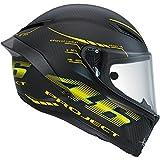 AGV Helm Runway GP E2205Top W, Mehrfarbig (Matt Schwarz/Gelb), 6