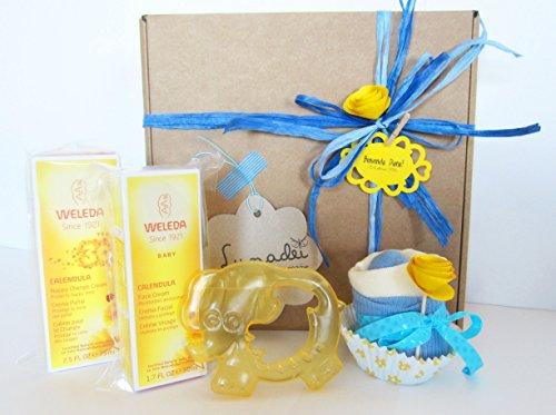 regalo-originale-per-nascita-o-battesimo-contiene-due-creme-weleda-alla-calendula-bio-1-cupcake-bava