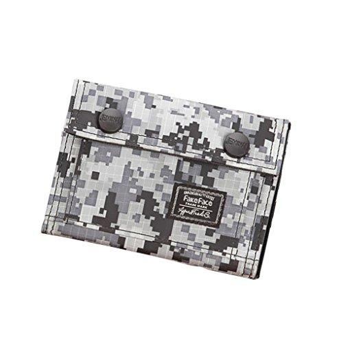 Unisex Camouflage Geldbörse Canvas Geldtasche Geldbeutel mit Umschlag Handtasche Clutch für Damen Herren Jungen Mädchen (Canvas-nylon-geldbörse)