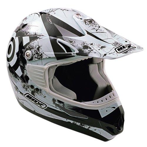 Box MX-5 Target - Motorrad-Helm - Offroad/Enduro/Motocross - Schwarz - S