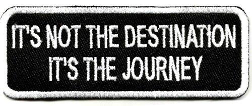 Es ist nicht das Ziel der Reise Weste Patch–Motorrad Patch Biker Sprüche Aufnäher Bügelbild Patches Hippie Patch | Stickerei Hohe Qualität Eisen auf Sew auf bestickt Patch Abzeichen für Kleidung Jacken T-Shirts Mäntel Taschen Hüte Geldbeutel Harley Davidson Baby Mütze