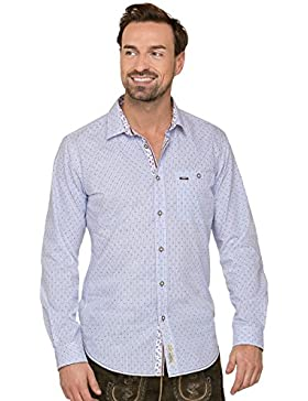 Trachtenhemd Langarm Kito Hellblau Modern Fit