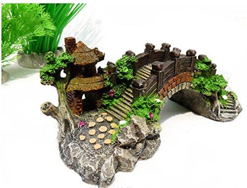 Delicated Aquarium Décoration Pont Arbre Pavillon pour...