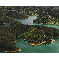 MASHICHEN Painting By Numbers Diy Kit Drawing Water Aerial View Gift Kits Pre-Printed Canvas Art Home Decoration Digital Oil Painting-(40X50Cm) With Frame