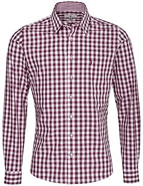 Almsach Trachtenhemd Kurt Slim Fit in Aubergine Inklusive Volksfestfinder