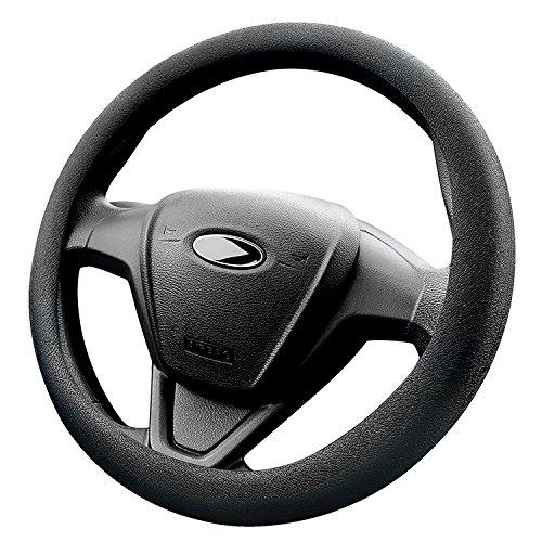 Mincome Funda Volante, La cubierta del volante para Coche, cuero de silicona, Diámetro de 38-42 cm, Negro