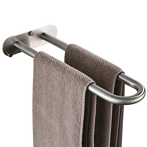 WINCASE Massiv Edelstahl Moderne Handtuch Bar Handtuchhalter, Nickel Gebürstet für Bad Küche, Wand montiert Installation -