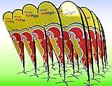 Teardropmarkierungsfahne Banner Ausstellung Veranstaltungen Einzelhandels Waren (Small) - Teardrop flag banner exhibition events retail display merchandise (Small)