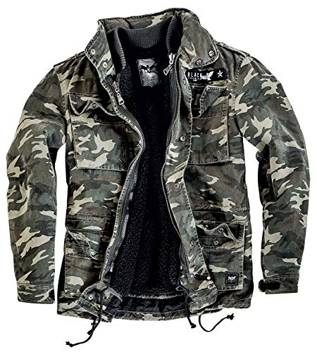 Black Premium by EMP Army Field Jacket Winterjacke Camouflage M -