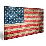 islandburner Bild Bilder auf Leinwand USA Flagge Stars and