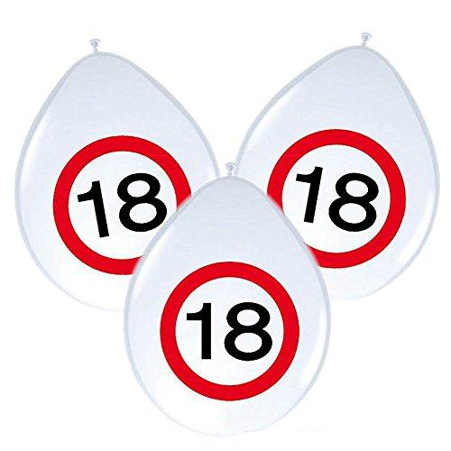 20 runde Servietten Verkehrsschild 18 Verkehrszeichen 18 Geburtstag volljährig